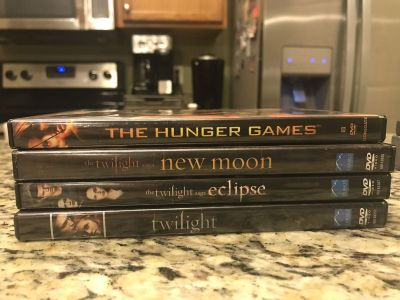 The Hunger Games and Twilight DVD s