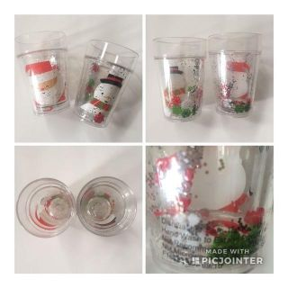 Snow-globe style holiday drinking cups.