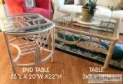 BEAUTIFUL Rattan Coffee Table End Table