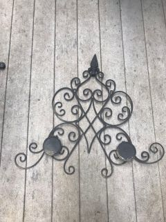 Wrought iron candle decor (in 2 pieces)