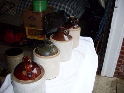 $35 4 shoulder whiskey jugs (Ironton, Ohio)