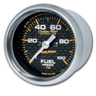 "Buy Auto Meter 4763 Carbon Fiber 2 1/16"" Electric Fuel Pressure Gauge 0-100 PSI motorcycle in Greenville, Wisconsin, US, for US $268.90"