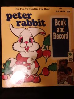 Peter Rabbit 45rpm record story book.