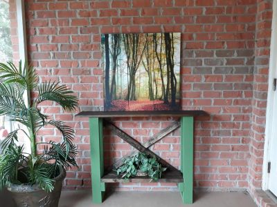 """Really cute hand-built slender table this table can be used in any area in the home Dimensions are 4ft L 35"""" H 10"""" W $100"""