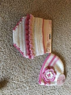 Brand new hand crocheted diaper cover and hat