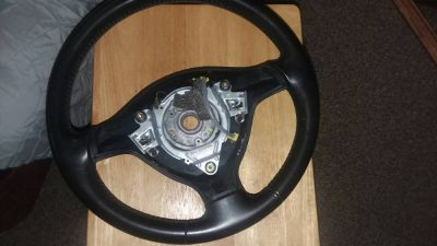 3 spoke leather steering