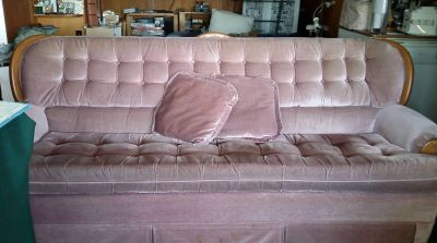 Couch, rocking chair and ottoman