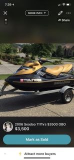 2006 Seadoo Supercharged 117 hrs.