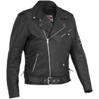 Buy River Road Ironclad Perforated Leather Jacket Motorcycle Jackets motorcycle in Louisville, Kentucky, US, for US $159.99