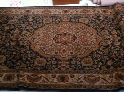 5x8 Accent Rug in Black  Brown