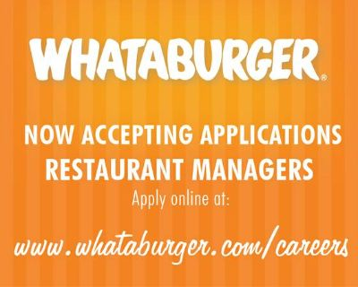 Now Accepting Applications Managers (San Angelo)