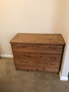 Solid Wood 3 Drawer Chest