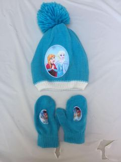 Frozen hat and mittens