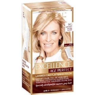 #2 L'Oreal Paris Age Perfect by Excellence Hair Color - 9G Light Soft Golden Blonde
