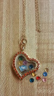Infant Memory Floating Charm Necklace HANDMADE BY ME