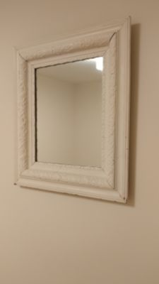 White antique mirror