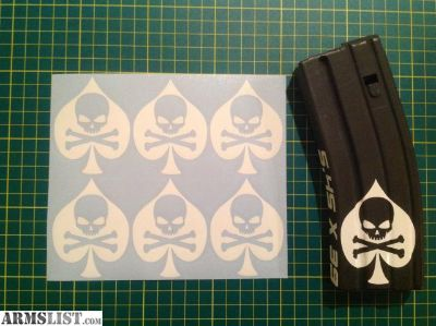 For Sale: Ace of Spades Death AR15 Mag Sticker Pack
