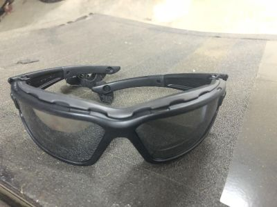 Riding glasses with foam