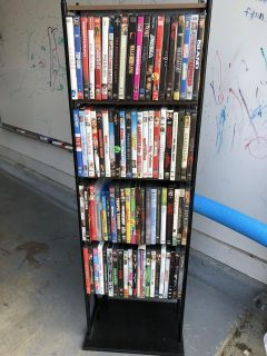 DVD Tower with over 80 Movies