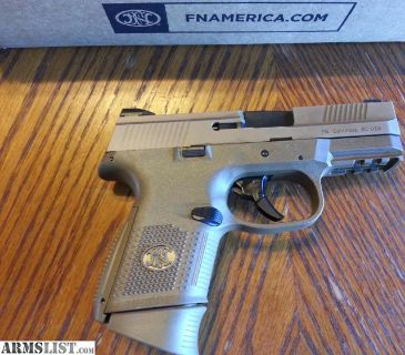 For Sale: FN FNH FNS 9C Compact 9mm FDE 3 Mags NIB Striker Fired