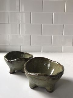 Two Earthborn Pottery Noodle Bowls