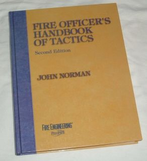 RARE Vintage 1998 Fire Officer's Handbook of Tactics 451 Page Hard Cover Coffee Table Book by Jo...