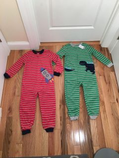 Carter s Fleece Footless PJs. Size 5t. Brand New with Tags.