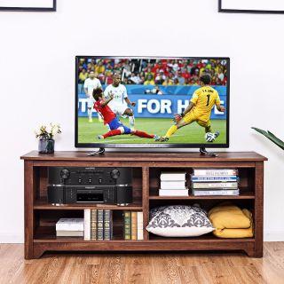 "58"" TV Stand Wood Storage Furniture"