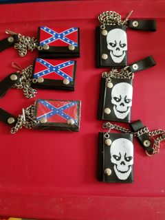 Men's wallets with chains.