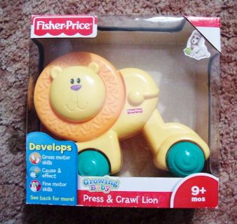 NIB Fisher Price Growing Baby Press & Crawl Lion