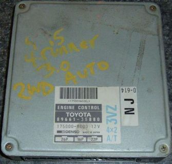 Sell 94 95 4Runner Toyota Pickup 2WD V6 ECU 89661-35880 Factory OEM 1994 1995 L@@K motorcycle in Sevierville, Tennessee, US, for US $59.99