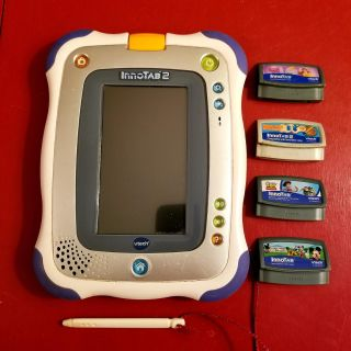 Vtech Innotab 2 with 4 Games!