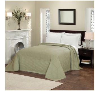 NEW! American Traditions Full Size Quilted French Tile Bedspread in Sage
