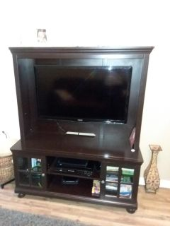 Espresso wood, holds up to 50 inch tv