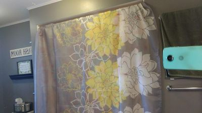 Shower curtain and matching rings