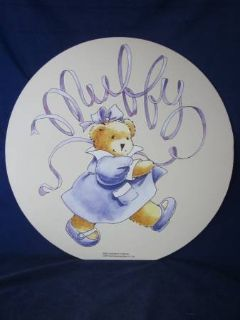 """Muffy Vanderbear Wall Hanging Picture 1995 LARGE 18"""" dia ~ VINTAGE NEW"""