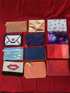 Ipsy makeup/cosmetic Bags - Multiple colors