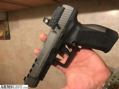 For Sale: Canik TP9SFX Tungsten W/ 4 mags