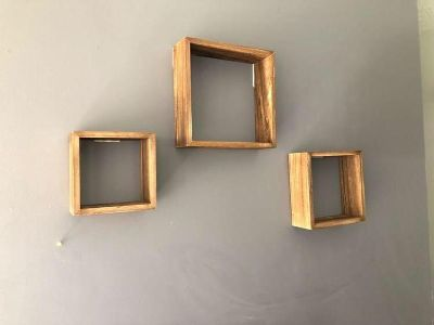 Wood Floating Shelves - 7 pieces