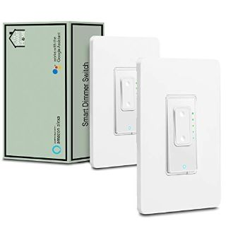 3 Way Smart Switch Dimmer by Martin Jerry, SmartLife App, compatible with Alexa as WiFi Light Switch Dimmer, 3-way, Works with Google Assist