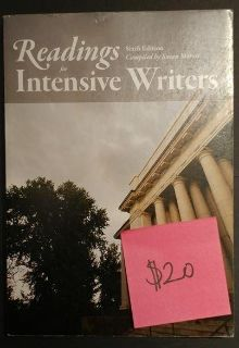 Readings for the Intensive Writers