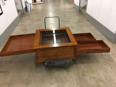 Echoes Glass Top Oak Coffee Table