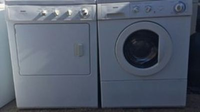 Small front load washer and electric dryer