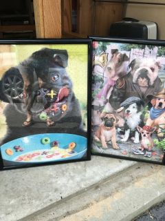 Framed Pug puzzle picture