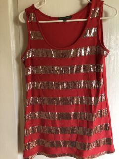 NEW PINK tank w/sequins NY Collection. Ladies small. Could also fit a medium