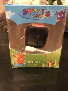 New, in box kids pink smart watch