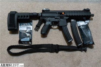 """For Sale: SIG MPX 9 8"""" Barrel with Sig Brace and 3 Magazines NIB"""