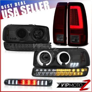 Purchase 1999-2006 Sierra 6.0L Smoked Red Taillights Third Brake Light Signal Headlights motorcycle in Walnut, California, United States, for US $407.81