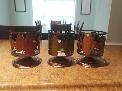 Bath and body works fall candle holders