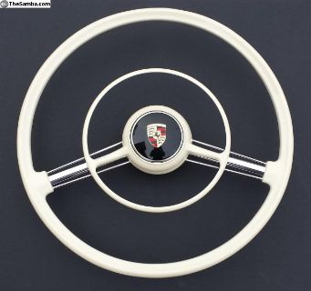 356 A Original Ivory Steering Wheel